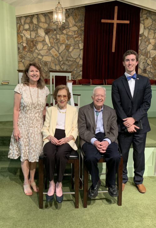 From Left to Right: Sharon Head, Former First Lady Eleanor Carter, Former President Jimmy Carter, Michael Head